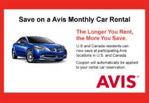 Car Rental Avis Coupons Avis Coupons Save On An Avis Car Rental