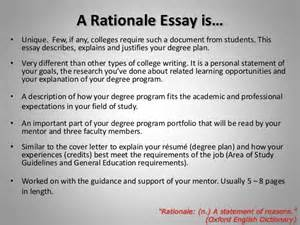 Rationale Essay Sample Planning Amp Writing Your Rationale Essay