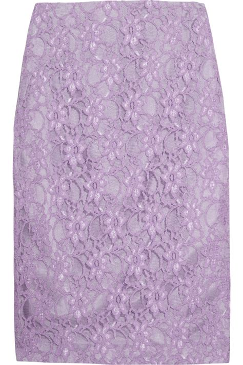 lavender lace pencil skirt dressing up pretty and modest