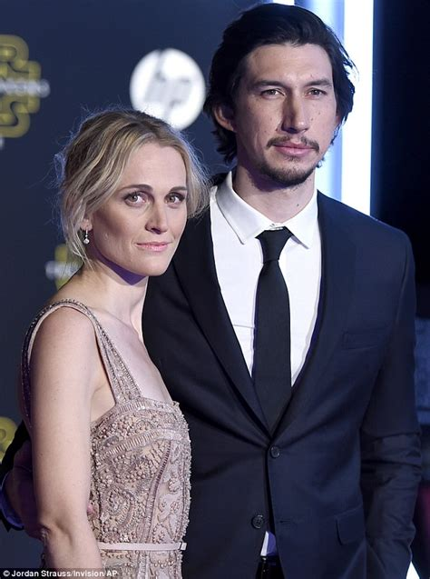 Blue Patterned Curtains Adam Driver And Wife Joanne Tucker Attend Star Wars The