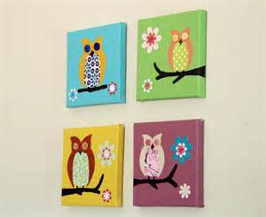 Owl Baby Nursery Decor Owl For Children Paintings For Baby Nursery Decor By Wallfry