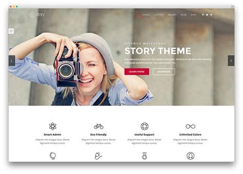 story website themes 40 awesome flat design wordpress themes 2017 colorlib