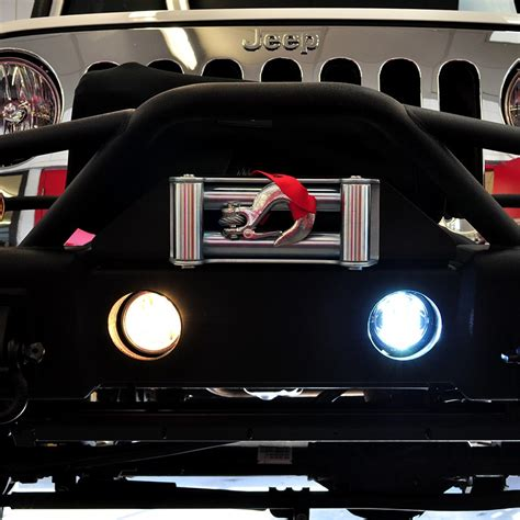 jeep lights jeep jk led fog light kit chrome