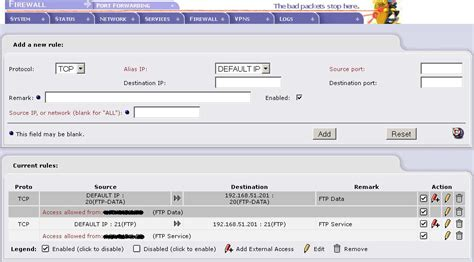 porta tcp ftp port 20 software firewall