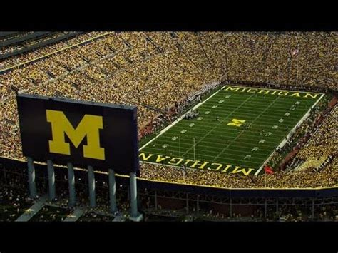 michigan big house michigan s big house youtube