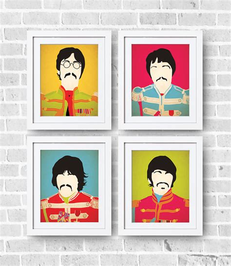 items similar to the beatles sgt peppers set 8x10 print
