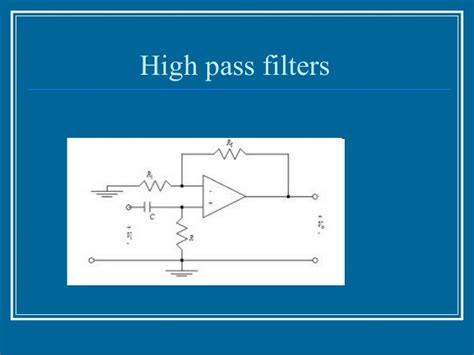 high pass filter non inverting applications of op s