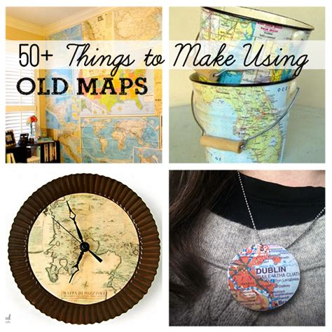 best craft projects 50 diy projects using maps