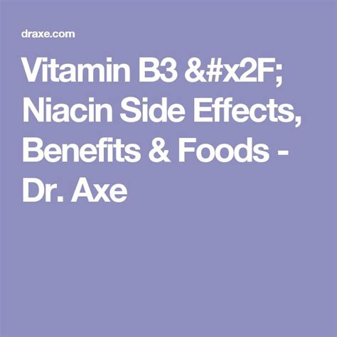 Niacin Detox Pills Side Effects by 25 Best Ideas About Vitamin B3 On