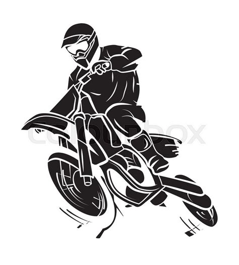 moto trail stock vector colourbox