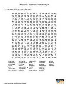 Crossword puzzles for worksheet and health and wellness worksheets