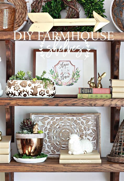 farmhouse shelves diy farmhouse shelves nest of posies