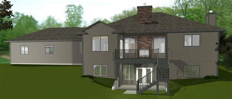 bungalow house plans with basement rear click walkout basements plans by edesignsplans house