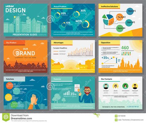 powerpoint templates urban design urban design of infographics presentation slides template