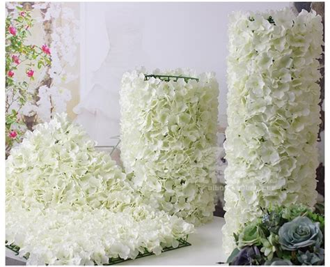 flower wall wedding cost 10pcs artificial silk hydrangea flower wall wedding background lawn pillar road lead flowers