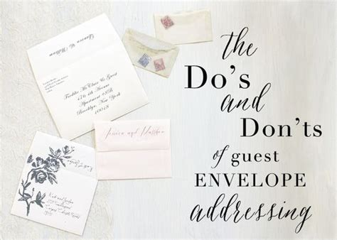 where do you write and guest on wedding invitation envelope addressing envelopes and wedding on