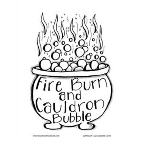 witch cauldron coloring page witch s cauldron halloween coloring page