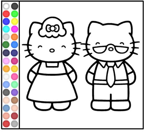 hello kitty online coloring page games hello kitty