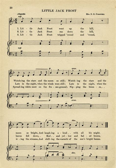 Paper Song - sheet free vintage graphic