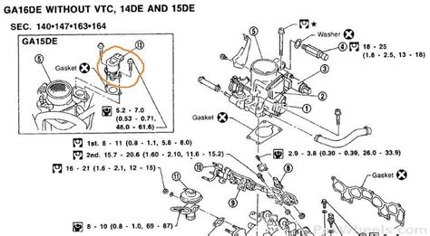 nissan ga15 engine parts diagram nissan 1 6 liter engine