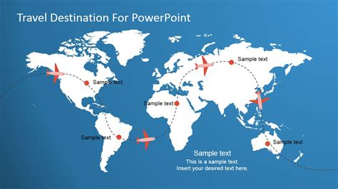 travel destination powerpoint template slidemodel