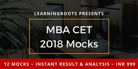 Cet 2017 Mba by Learningroots Cet Mock Package For Mah Mba Cet 2018