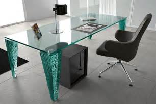 modern home office design ideas with glass tables