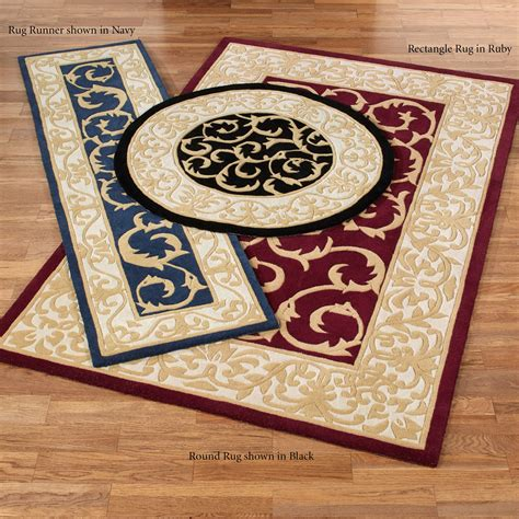 Scroll Area Rug Regal Scroll Traditional Wool Area Rugs