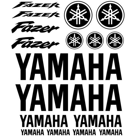 Yamaha Aufkleber Set by Wandtattoos Folies Yamaha Fazer Aufkleber Set