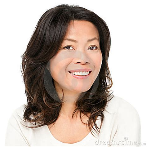 japanese middle age hairstyles asian woman smiling happy stock photography image 23585292