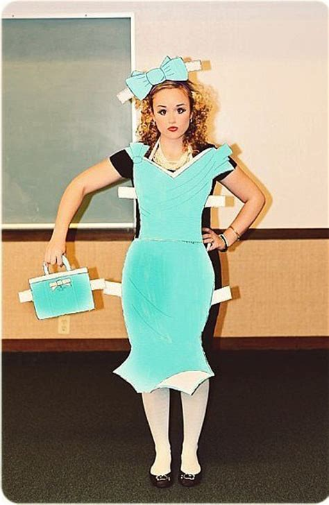 diy paper doll costume 187 the merrythought fit fashionable friday help me my costume
