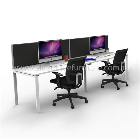 Modular Desks Office Furniture Modular Desk 2 Person In Line With Screen Divider Office Furniture