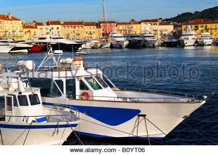 Yt St Luxury yacht anchored in the mediterranean stock photo