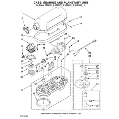 KitchenAid 5 Quart (Plus/Pro) Parts Diagram   KitchenAid 5 Quart Pro Bowl Lift Mixer Diagrams