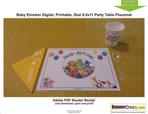 Table Mat For Babies by Baby Einstein Birthday Placemat Table Mat Instant
