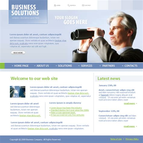 website templates for small business business focus web template 3685 business website templates dreamtemplate