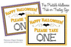 take one template trick or treat printable paper designs