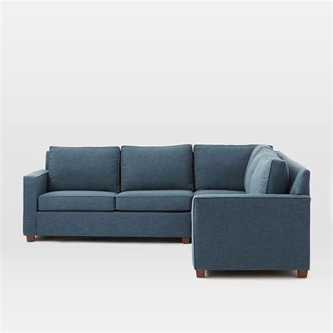 henry sectional henry 174 3 piece l shaped sectional west elm
