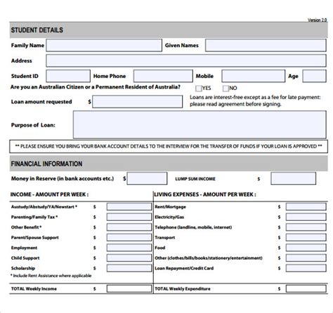 student application template 28 images best photos of