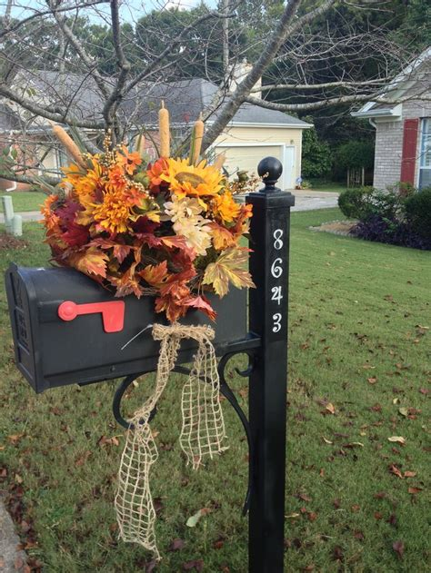mailbox decorations 1000 ideas about fall mailbox decor on
