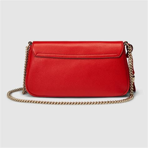lyst gucci soho leather shoulder bag in