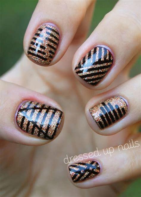 déco pour ongles facile d 233 co ongles originale la manucure au scotch et striping