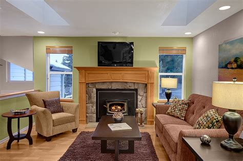 Staging A Small Living Room by Home Staging Seattle Furniture Rental Ballard Bellevue