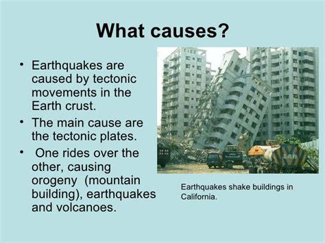earthquake causes earthquakes