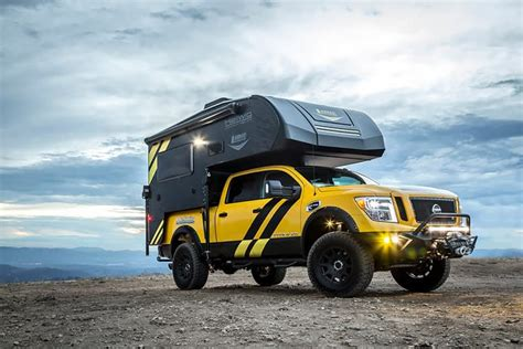 nissan titan pop up cer hellwig and lance launch diesel nissan titan rig for sema 2016
