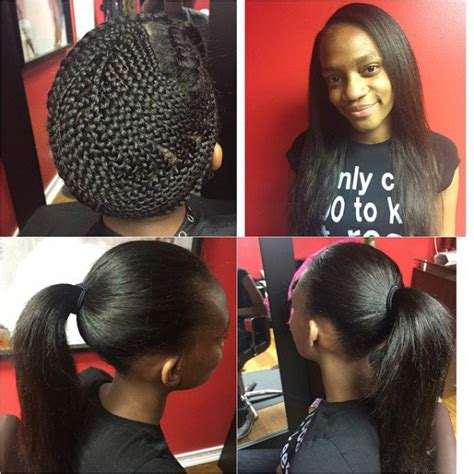 braiding short hair for sew in nynystyles great sew in and that braid pattern is no joke