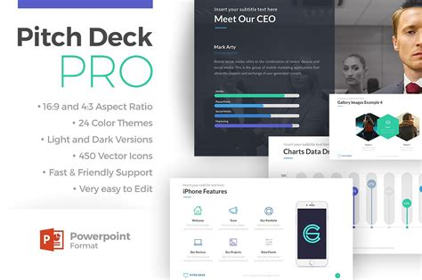 pitch deck pro powerpoint template presentation