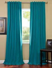 turquoise cotenza pole pocket curtain contemporary
