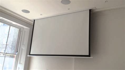 ceiling projector screen sapphire in ceiling projector screen in up market flat