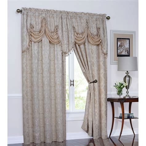 Tuscan Kitchen Curtains Valances Better Homes And Gardens Tuscan Retreat Kitchen Tiers Set Of 2 Or Valance Walmart